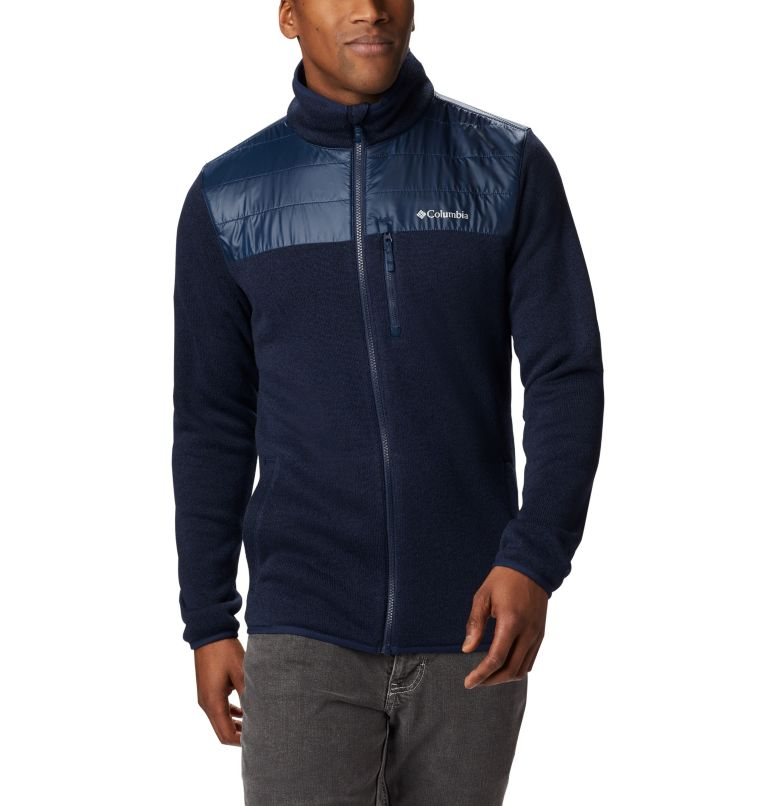 Canyon Point™ Sweater Fleece F | 464 | XL Men's Canyon Point Full Zip Sweater Fleece, Collegiate Navy, a2