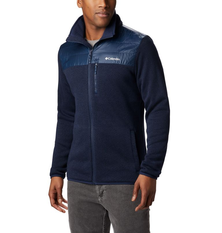 Canyon Point™ Sweater Fleece F | 464 | XL Men's Canyon Point Full Zip Sweater Fleece, Collegiate Navy, front