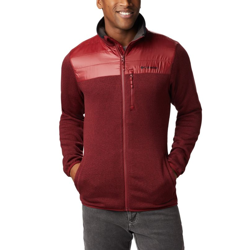Canyon Point™ Sweater Fleece F | 664 | XXL Men's Canyon Point Full Zip Sweater Fleece, Red Jasper, front