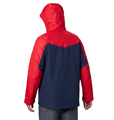 Men's Whirlibird™ IV Insulated Interchange Jacket Whirlibird™ IV Interchange Jacket | 271 | XXL, Collegiate Navy, Mountain Red, back