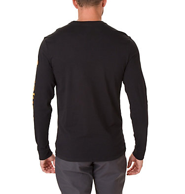 Men's Columbia Lodge™ Long Sleeve Graphic T-shirt Columbia Lodge™ LS Graphic Tee | 011 | S, Black, Sleeve Hit, back