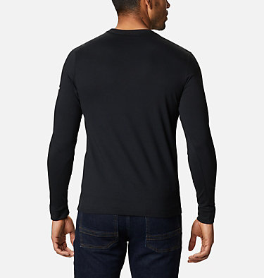Men's Columbia Lodge™ Long Sleeve Graphic T-shirt Columbia Lodge™ LS Graphic Tee | 011 | S, Black, CSC Retro Squiggle Typo, back