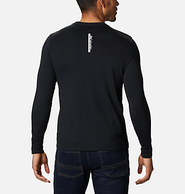 Men's Columbia Lodge™ Long Sleeve Graphic T-shirt Columbia Lodge™ LS Graphic Tee | 011 | S, Black CSC Bar Split, back