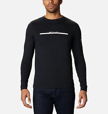 Men's Columbia Lodge™ Long Sleeve Graphic T-shirt Columbia Lodge™ LS Graphic Tee | 011 | S, Black CSC Bar Split, front