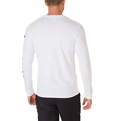 Men's Columbia Lodge™ Long Sleeve Graphic T-shirt Columbia Lodge™ LS Graphic Tee | 011 | S, White, Sleeve Hit, back