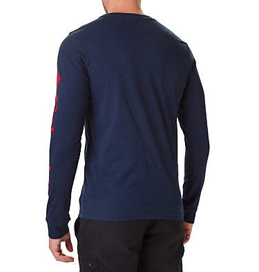 Men's Columbia Lodge™ Long Sleeve Graphic T-shirt Columbia Lodge™ LS Graphic Tee | 011 | S, Collegiate Navy, Sleeve Hit, back