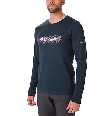 Men's Columbia Lodge™ Long Sleeve Graphic T-shirt Columbia Lodge™ LS Graphic Tee | 011 | S, Night Shadow, Squiggle, front