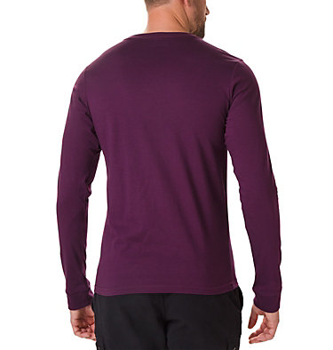 Men's Columbia Lodge™ Long Sleeve Graphic T-shirt Columbia Lodge™ LS Graphic Tee | 011 | S, Black Cherry, Squiggle, back