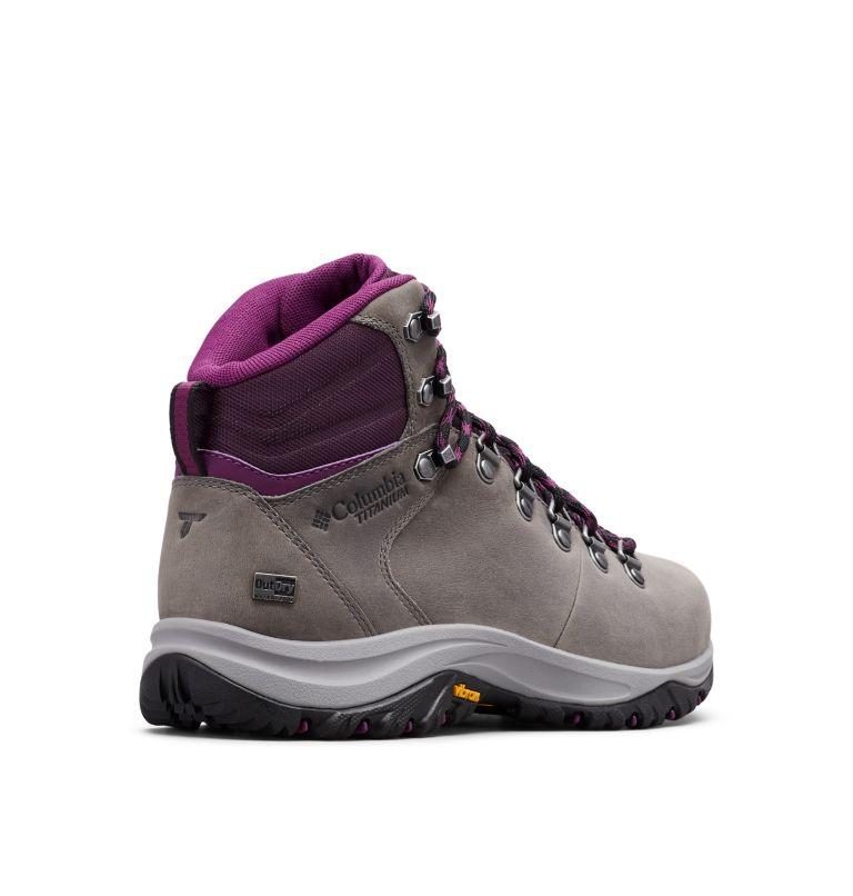 100MW™ TITANIUM OUTDRY™ | 033 | 9 Women's 100MW™ Titanium OutDry™ Hiking Boot, Ti Grey Steel, Black Cherry, 3/4 back