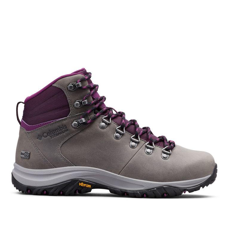 100MW™ TITANIUM OUTDRY™ | 033 | 9 Women's 100MW™ Titanium OutDry™ Hiking Boot, Ti Grey Steel, Black Cherry, front