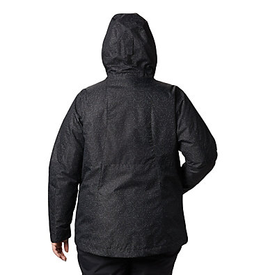 Women's Whirlibird™ IV Interchange Jacket - Plus Size Whirlibird™ IV Interchange Jacket | 604 | 2X, Black Sparkler Print, back