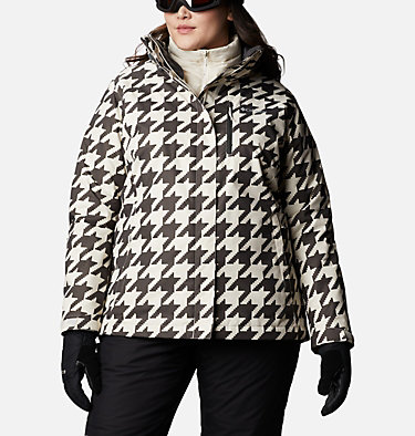 Women's Whirlibird™ IV Interchange Jacket - Plus Size Whirlibird™ IV Interchange Jacket | 604 | 2X, Chalk Houndstooth Print, front