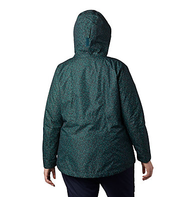 Women's Whirlibird™ IV Interchange Jacket - Plus Size Whirlibird™ IV Interchange Jacket | 604 | 2X, Dark Seas Sparkler Print, back