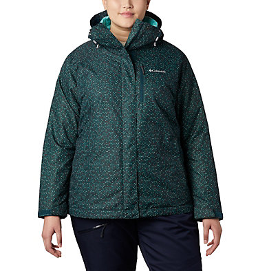 Women's Whirlibird™ IV Interchange Jacket - Plus Size Whirlibird™ IV Interchange Jacket | 604 | 2X, Dark Seas Sparkler Print, front