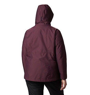 Women's Whirlibird™ IV Interchange Jacket - Plus Size Whirlibird™ IV Interchange Jacket | 604 | 2X, Black Cherry Crossdye, back