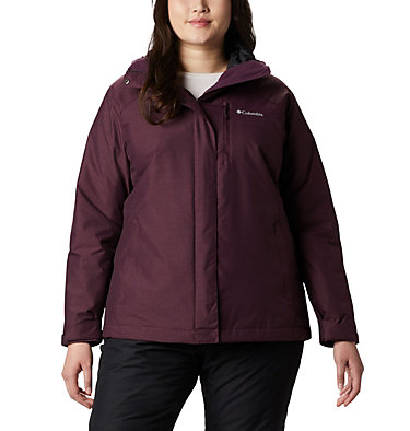 Women's Whirlibird™ IV Interchange Jacket - Plus Size Whirlibird™ IV Interchange Jacket | 604 | 2X, Black Cherry Crossdye, front