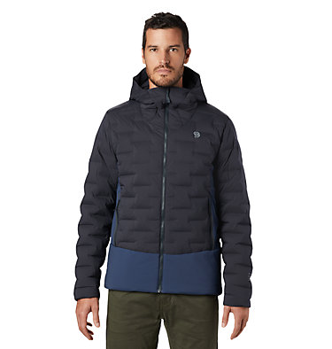 Men's Super/DS™ Stretchdown Climb Hoody Super/DS™ Climb Jacket | 492 | L, Dark Storm, front