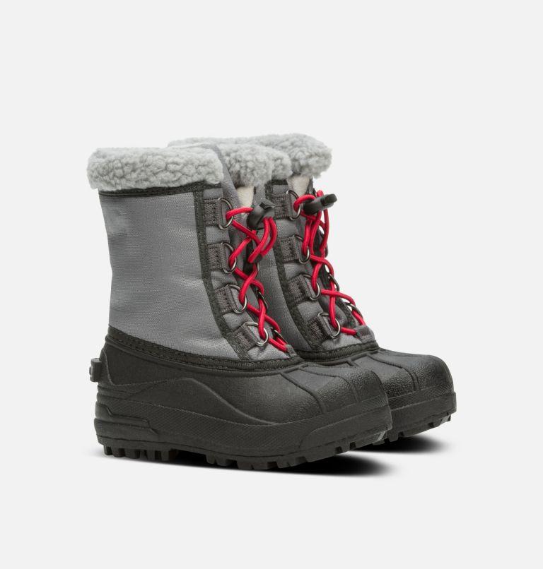 CHILDRENS CUMBERLAND™ | 023 | 8 Kids' Cumberland™ Snow Boot, City Grey, Coal, 3/4 front
