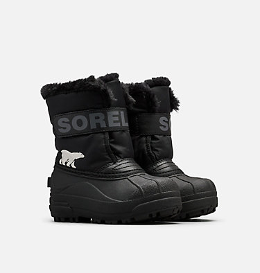 Kids' Snow Commander™ Boot CHILDRENS SNOW COMMANDER™ | 591 | 10, Black, Charcoal, 3/4 front