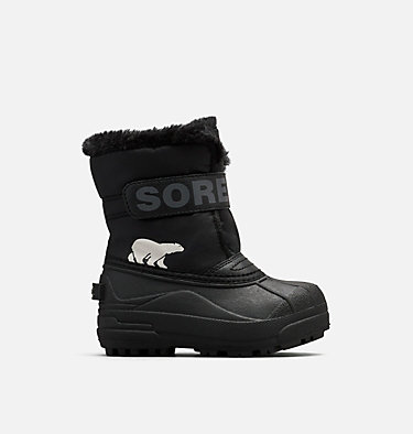 Kids' Snow Commander™ Boot CHILDRENS SNOW COMMANDER™ | 591 | 10, Black, Charcoal, front
