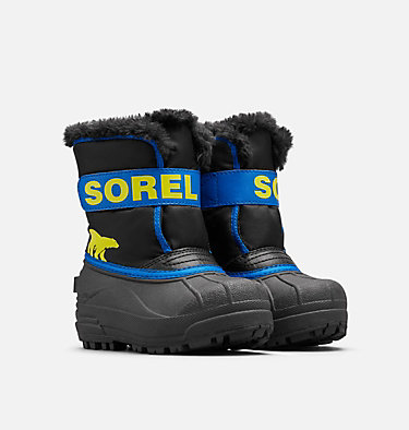 Kids' Snow Commander™ Boot CHILDRENS SNOW COMMANDER™ | 591 | 10, Black, Super Blue, 3/4 front