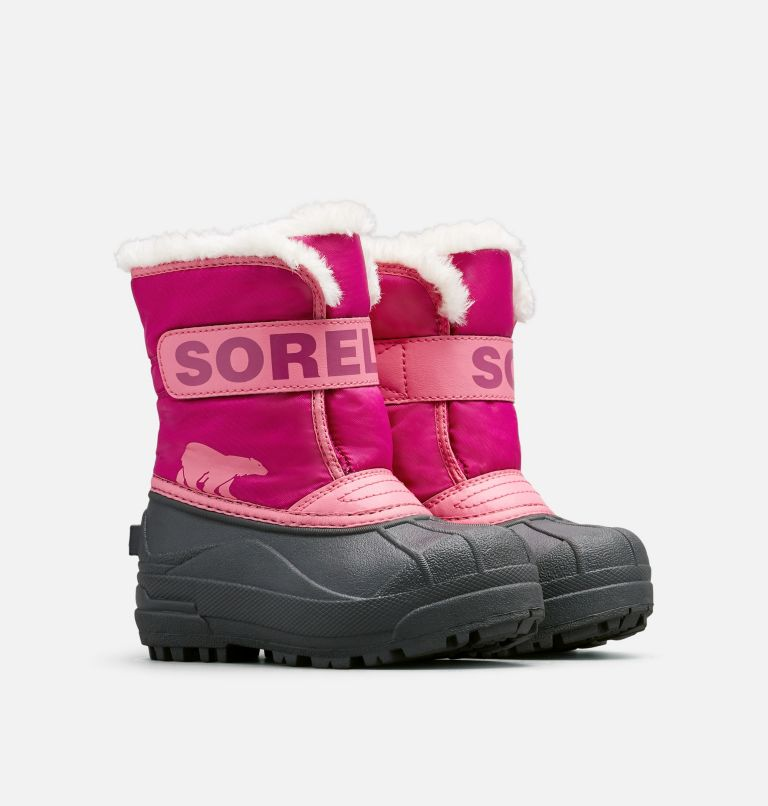 CHILDRENS SNOW COMMANDER™ | 652 | 12 Childrens Snow Commander™ Boot, Tropic Pink, Deep Blush, 3/4 front
