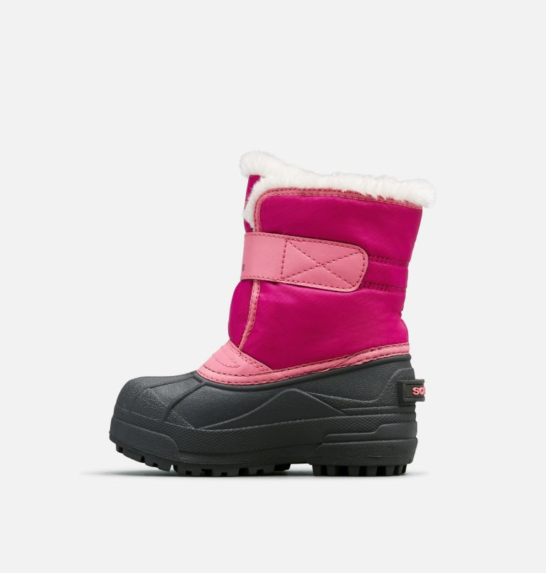 CHILDRENS SNOW COMMANDER™ | 652 | 12 Childrens Snow Commander™ Boot, Tropic Pink, Deep Blush, medial