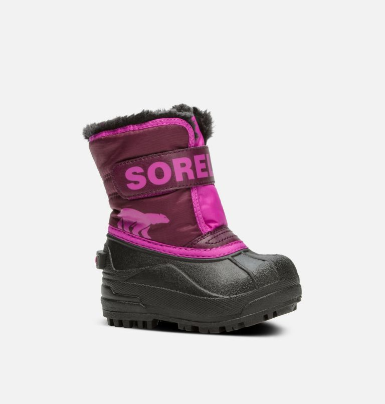 TODDLER SNOW COMMANDER™   562   7 Toddler Snow Commander™ Boot, Purple Dahlia, Groovy Pink, 3/4 front