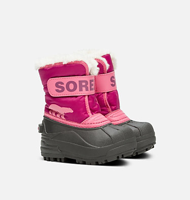 Botte Snow Commander™ jeune enfant TODDLER SNOW COMMANDER™ | 591 | 4, Tropic Pink, Deep Blush, 3/4 front