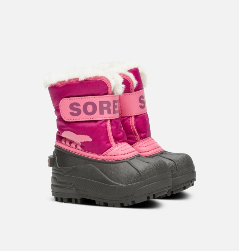 TODDLER SNOW COMMANDER™ | 652 | 6 Toddlers' Snow Commander™ Boot, Tropic Pink, Deep Blush, 3/4 front