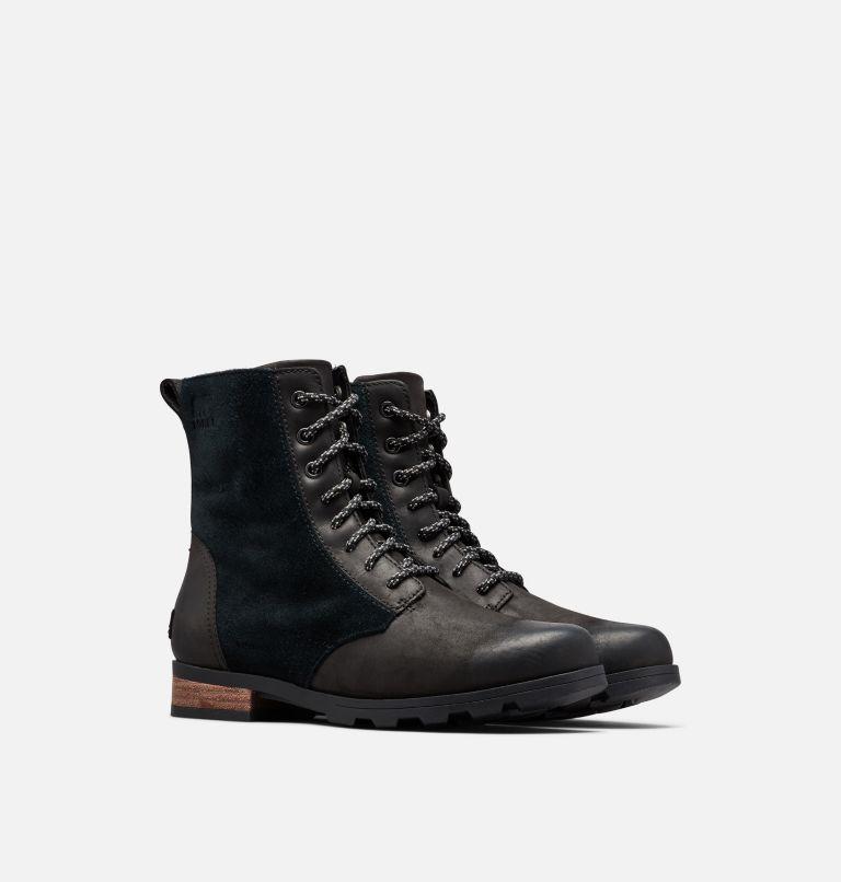 EMELIE™ SHORT LACE | 010 | 6 Women's Emelie™ Short Lace Boot, Black, 3/4 front