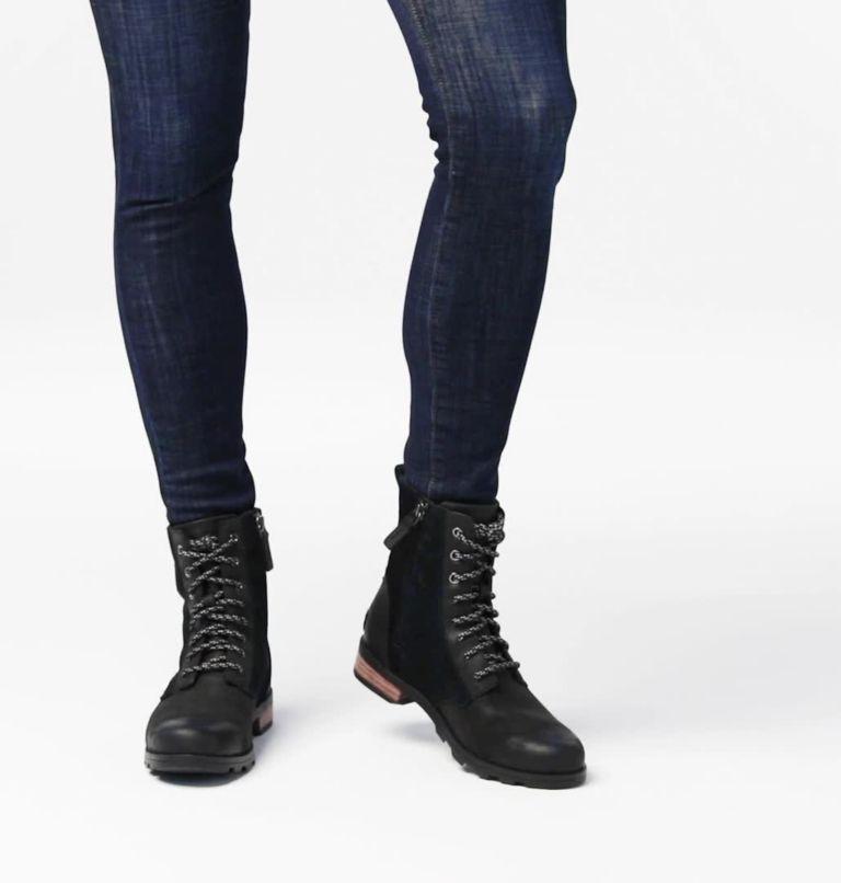 EMELIE™ SHORT LACE | 010 | 7 Women's Emelie™ Short Lace Boot, Black, video