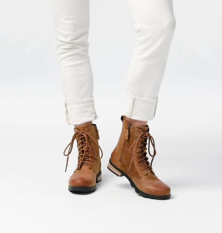 EMELIE™ SHORT LACE | 224 | 9.5 Botte à lacets hauteur-cheville Emelie™ pour femme, Camel Brown, video