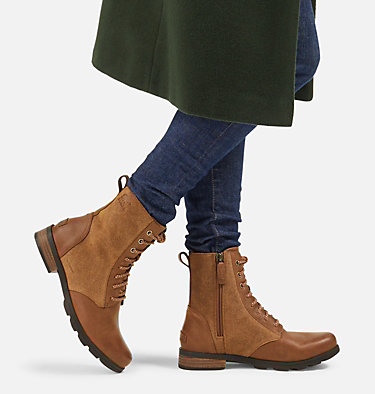 Women's Emelie™ Short Lace Boot EMELIE™ SHORT LACE | 010 | 10, Velvet Tan, video