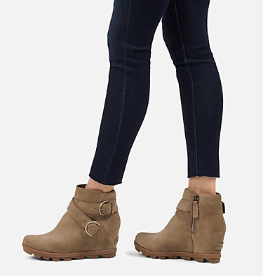 Women's Joan of Arctic™ Wedge II Buckle Bootie JOAN OF ARCTIC™ WEDGE II BUCKLE | 010 | 10, Khaki II, video