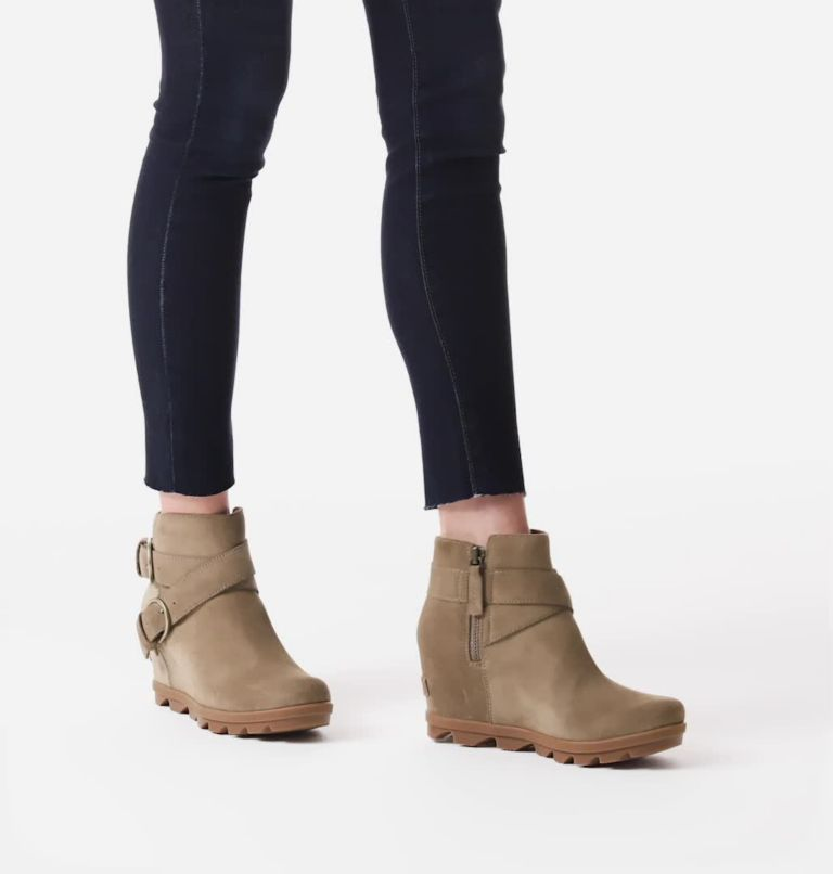 JOAN OF ARCTIC™ WEDGE II BUCKLE | 297 | 7.5 Women's Joan Of Arctic™ Wedge II Buckle Bootie, Khaki II, video