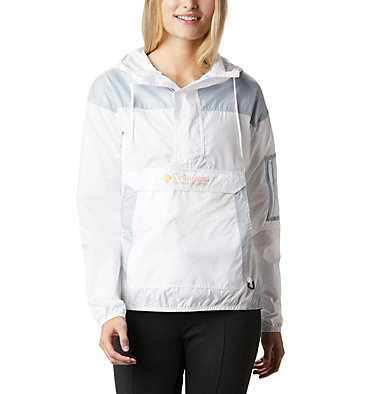 Women's Challenger™ Windbreaker Challenger™ Windbreaker | 010 | L, White, Cirrus Grey, front