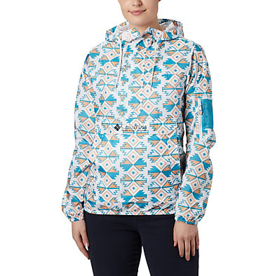 Women's Challenger™ Windbreaker Challenger™ Windbreaker | 612 | XS, White SW Blocks Print, front