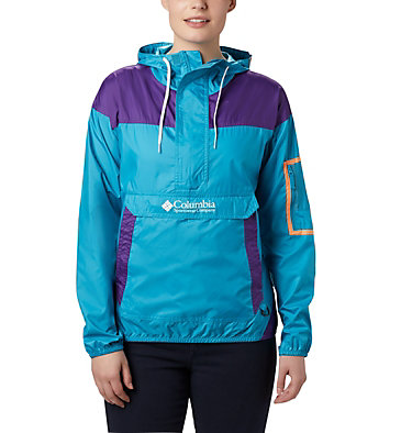 Women's Challenger™ Windbreaker Challenger™ Windbreaker | 010 | XL, Clear Water, Vivid Purple, front