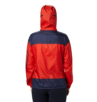 Women's Challenger™ Windbreaker Challenger™ Windbreaker | 612 | XS, Bold Orange, Nocturnal, back