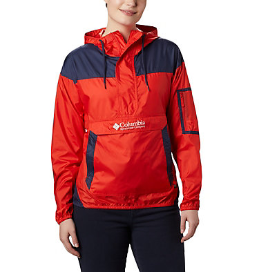 Women's Challenger™ Windbreaker Challenger™ Windbreaker | 612 | XS, Bold Orange, Nocturnal, front