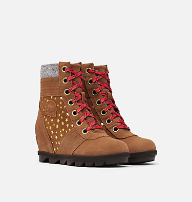 Youth Lexie™ Wedge Boot YOUTH LEXIE™ WEDGE | 010 | 1, Velvet Tan, 3/4 front