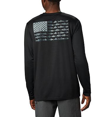 Men's Terminal Tackle PFG Fish Flag™ Long Sleeve Shirt Terminal Tackle PFG Fish Flag™ LS | 372 | L, 010, front