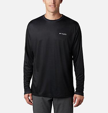 Men's Terminal Tackle PFG Fish Flag™ Long Sleeve Shirt Terminal Tackle PFG Fish Flag™ LS | 372 | L, Black, Graphite, back