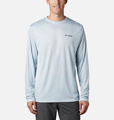 Men's Terminal Tackle PFG Fish Flag™ Long Sleeve Shirt Terminal Tackle PFG Fish Flag™ LS | 372 | L, Cool Grey, TX Fish, back