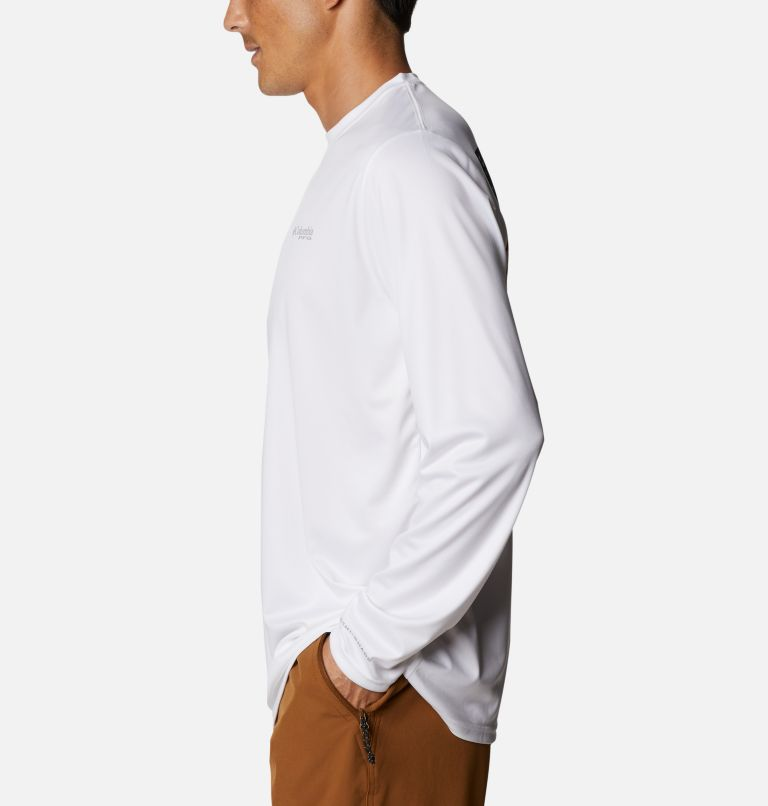 Terminal Tackle PFG Fish Flag™ LS   107   XXL Men's Terminal Tackle PFG Fish Flag™ Long Sleeve Shirt, White, Collegiate Navy, a1