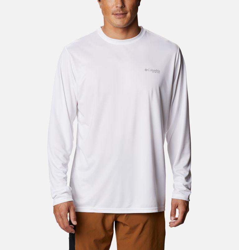 Terminal Tackle PFG Fish Flag™ LS   107   XXL Men's Terminal Tackle PFG Fish Flag™ Long Sleeve Shirt, White, Collegiate Navy, back