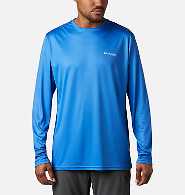 Men's Terminal Tackle PFG Fish Flag™ Long Sleeve Shirt Terminal Tackle PFG Fish Flag™ LS | 372 | L, Vivid Blue, White, back