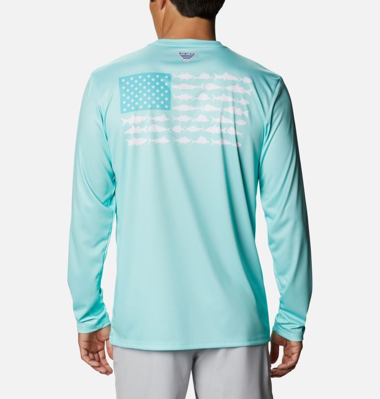 Men's Terminal Tackle PFG Fish Flag™ Long Sleeve Shirt Men's Terminal Tackle PFG Fish Flag™ Long Sleeve Shirt, front