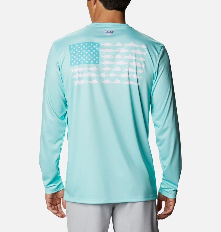 Terminal Tackle PFG Fish Flag™ LS   499   L Men's Terminal Tackle PFG Fish Flag™ Long Sleeve Shirt, Gulf Stream, Dolphin, front